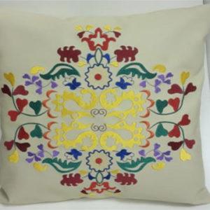 Подушка из экокожи «Татарский орнамент»