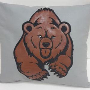 Подушка из экокожи «Русский медведь»